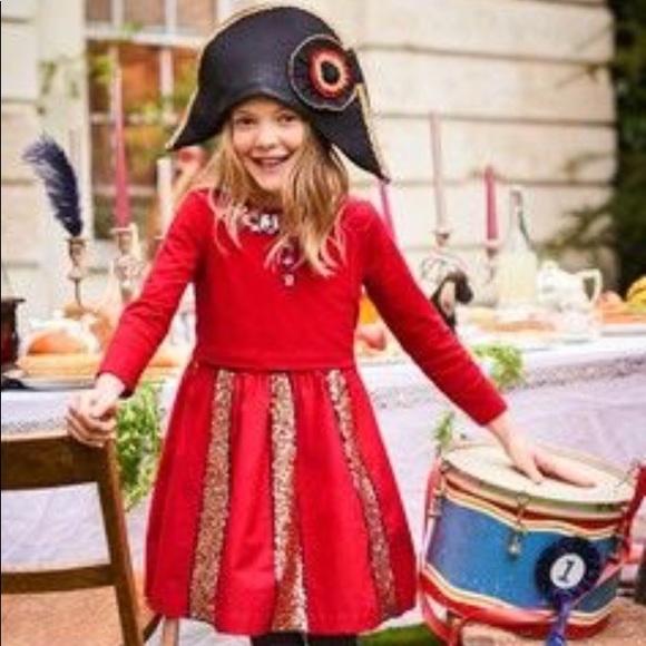 Mini Boden Other - Girls Mini Boden Sequined Skater Dress Sz 11 12